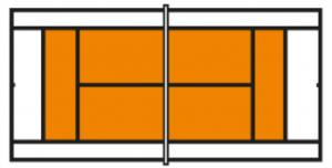 Speelveld oranje